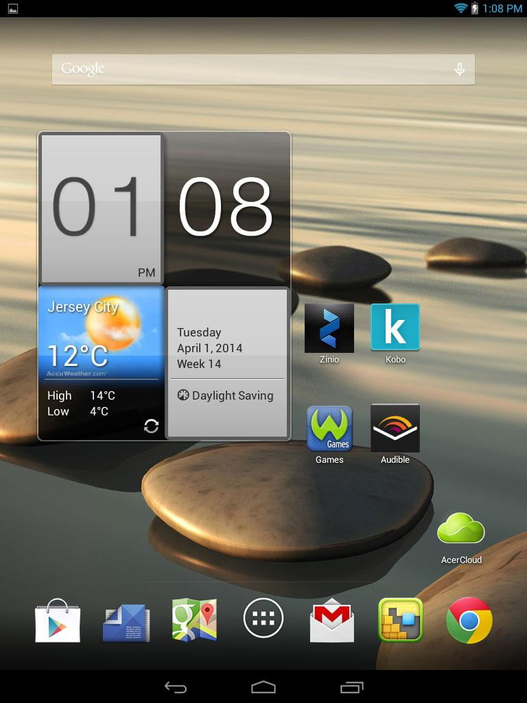 how to take a screenshot on a tablet acer