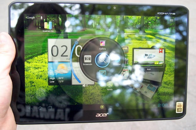 acer iconia tab review home screen embed android 4.0 ice cream tablet