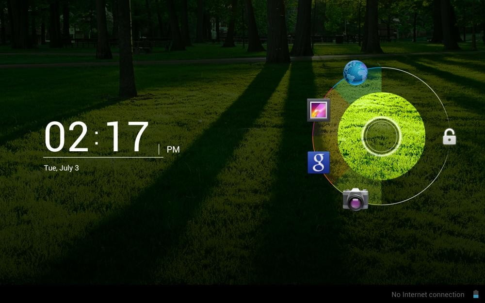 acer iconia tab review screenshot lockscreen android 4.0 ice cream ring
