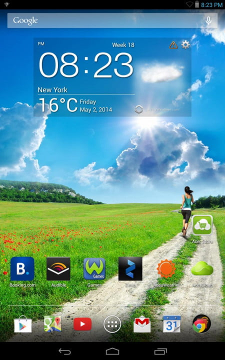 acer iconia one  review iconic home screen android