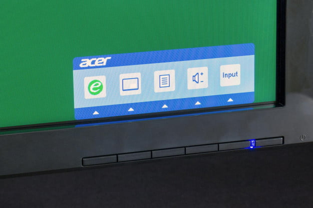 Acer K272HUL review monitor front controls