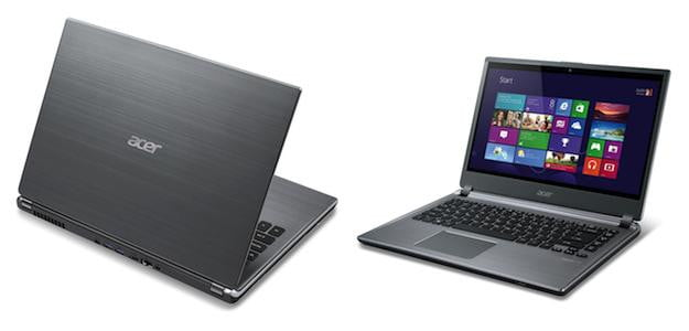 Acer M5-481T Front and Rear