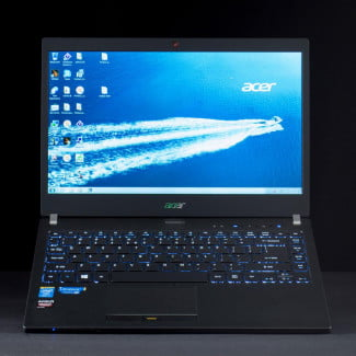 Acer TravelMate P6 front lifted