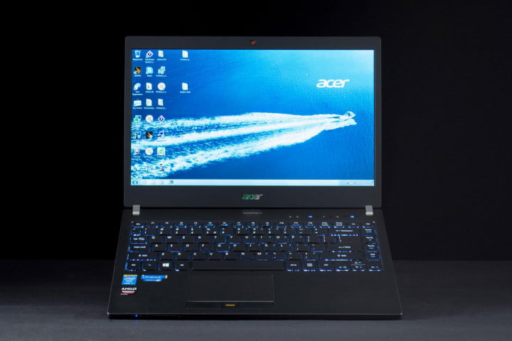 acer travelmate p  review front lifted
