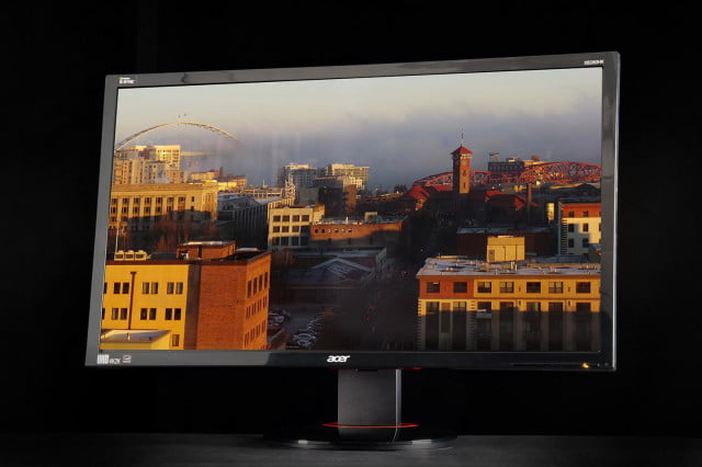 Acer XB280HK review 4K monitor front angle 2