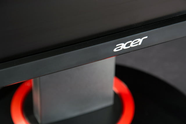Acer XB280HK review 4K monitor front logo