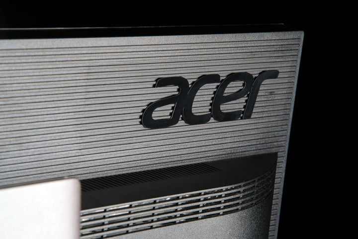 acer xb  hk review k monitor rear logo