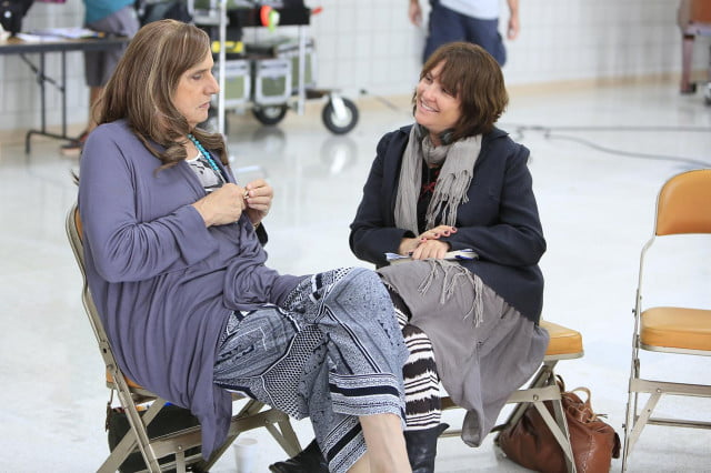 amazon greenlights third season transparent jeffrey tambor actor and writer director jill soloway on the set of