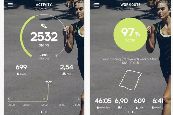 Adidas MiCoach Train and Run iOS screenshot new features