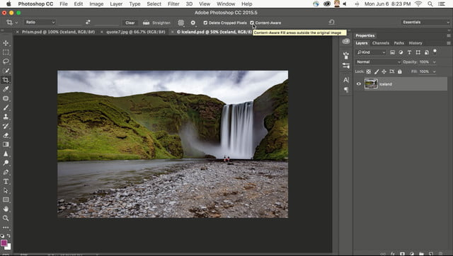 how to get photoshop for free adobe cc june update content aware crop