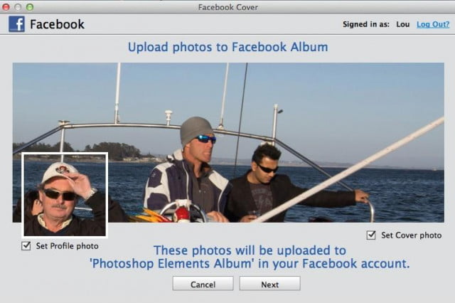 Adobe Photoshop Elements 13 lets you create unique profile and cover photos for Facebook.