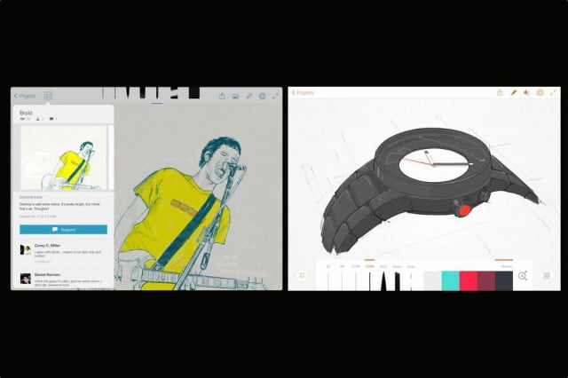 adobe line sketch drawing apps add stylus support auto save recovery
