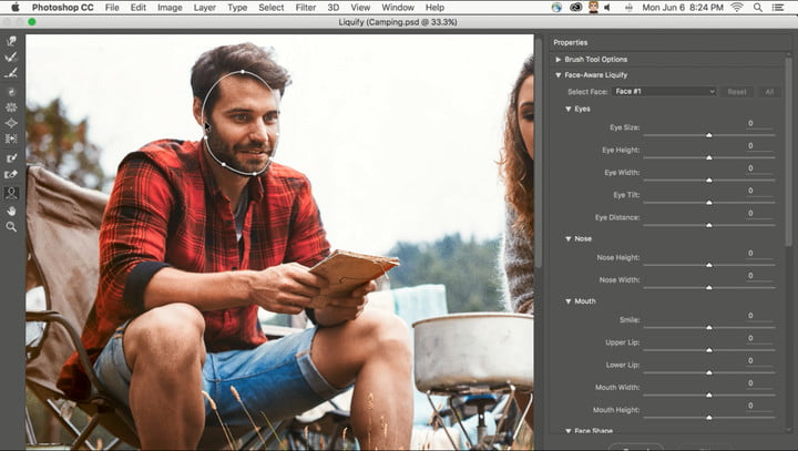 """According to Adobe, Photoshop's new Face-Aware Liquify is """"an easy way to create artistic effects with facial features using the Liquify Tool while keeping the face in proportion."""""""