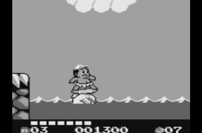 best game boy games adventure island  aliens in paradise screen
