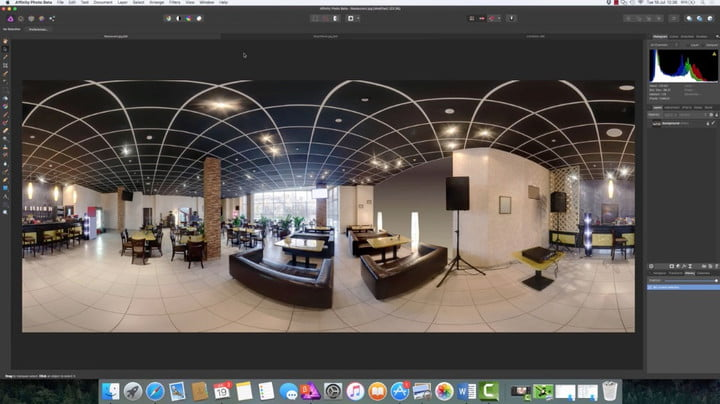A look at the new 360 degree photo editing features in Affinity Photo 1.5