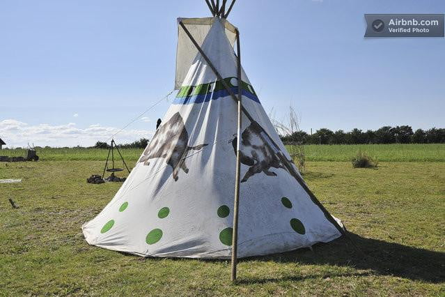 bizarre airbnb rentals that are almost too weird to believe tipi odense denmark