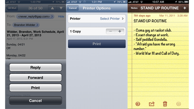 AirPrint screenshot