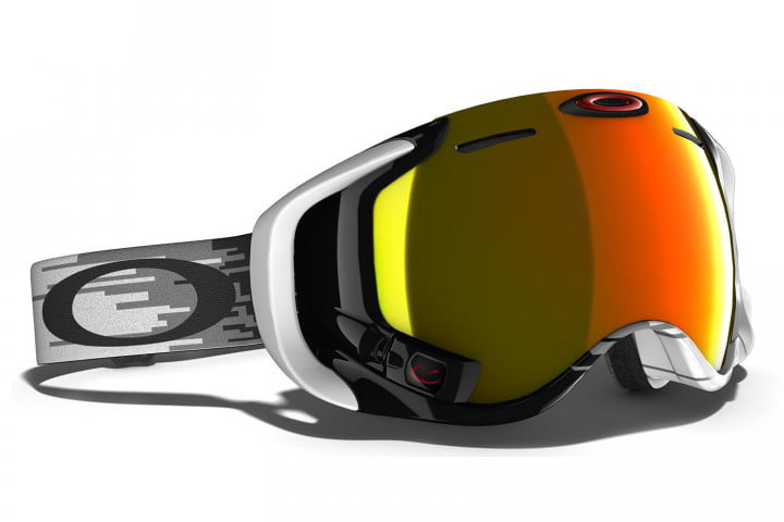 oakleys new hud goggle looks good for bombing tanks is mountains airwave  white hyperdrive fire iridium lens
