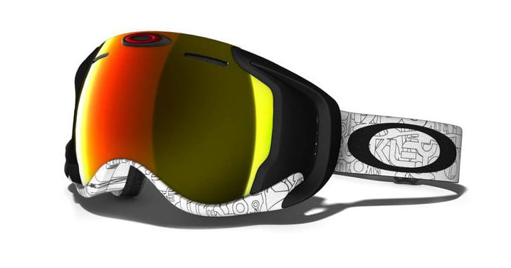 oakley ski goggles  skiing fanatics with a penchant for gadgets are certain to be interested in this swish new pair of goggles from oakley. the $599 gear contains heads up