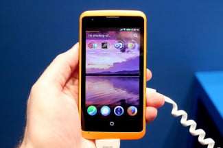 Alcatel OneTouch Fire Firefox OS home screen