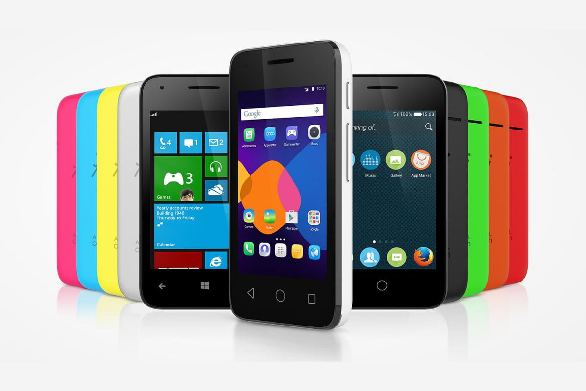 alcatel onetouch pixi  phones give you a choice of os color range