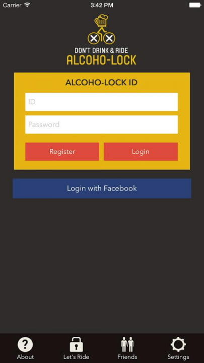 alcoho lock breathalyzer bike android app