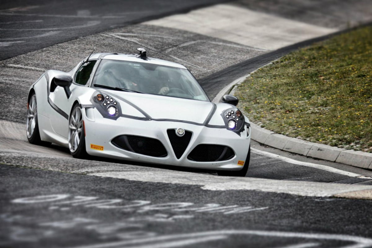 the amazing alfa romeo  c wows with a record breaking lap time at nurburgring on