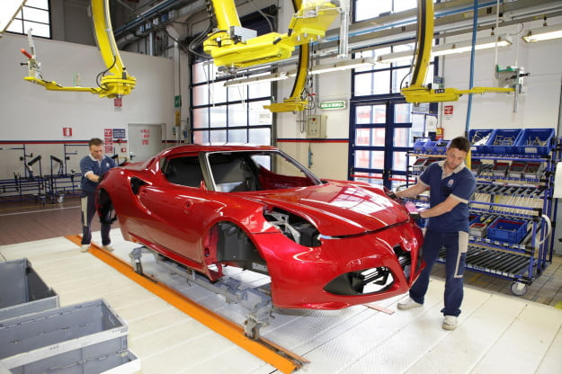 Alfa Romeo 4C assembly