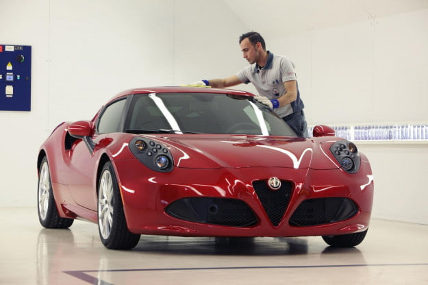 Alfa Romeo 4C in production