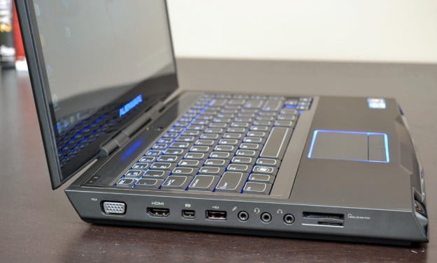 alienware m14x review laptop left side ports gaming laptop