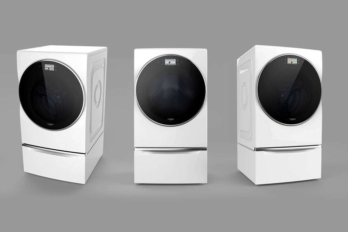 whirlpool introduces a smart washer dryer combo at ces  all in one
