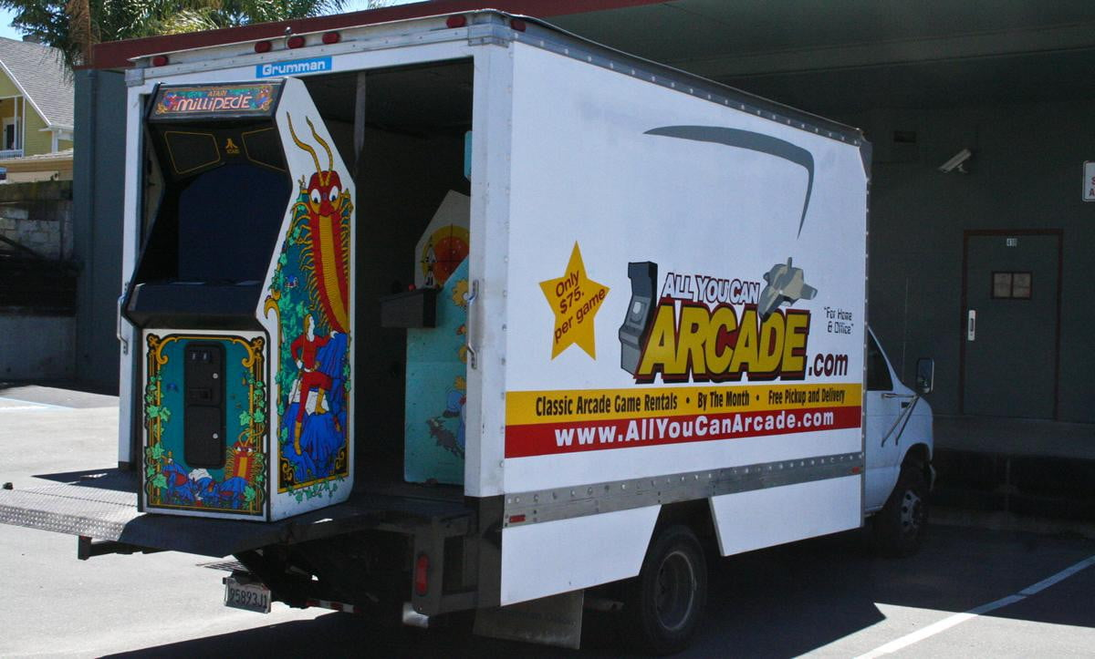 new subscription service delivers retro arcade machines to your door all you can machine truck