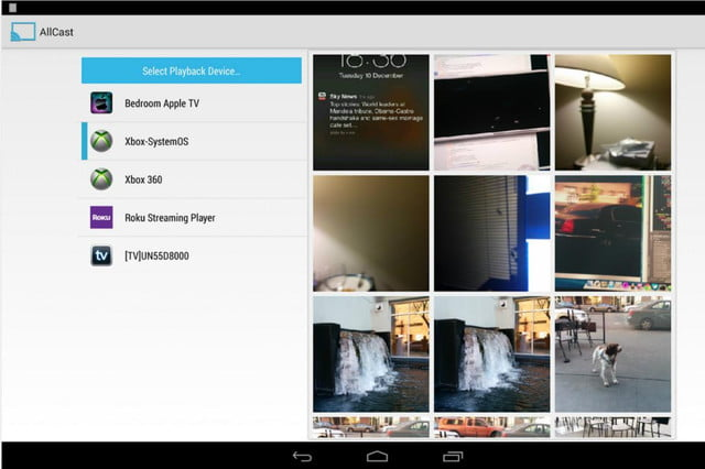 allcast android streaming chromecast support coming screenshot