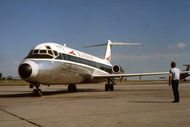 A Douglas DC-9 in Allegheny Airlines livery, a precursor to US Airways.