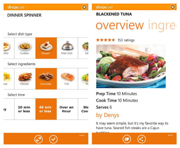 Allrecipes-Dinner-Spinner-windows-phone-7-app