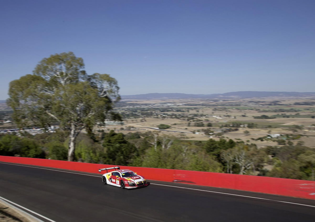 seven audi r  lms cars will compete in the bathurst hour