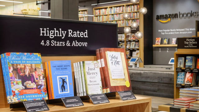 abandoning its roots amazon opens first physical storefront books