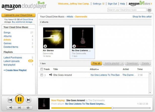 Amazon Cloud player artist