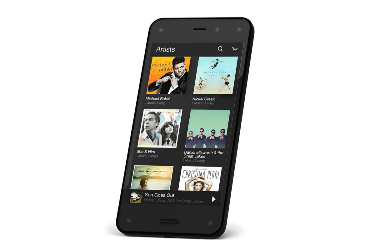 amazons new fire phone offers virtual surround sound magnetic earbuds amazon music library