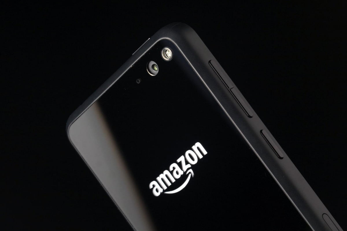 amazon fire phone  unlocked with prime top back angle