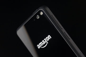 Amazon Fire phone top back angle 2