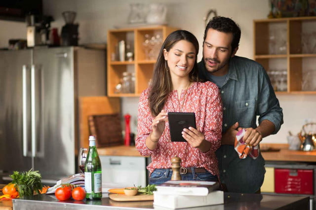 amazon fire tablet china couple kitchen