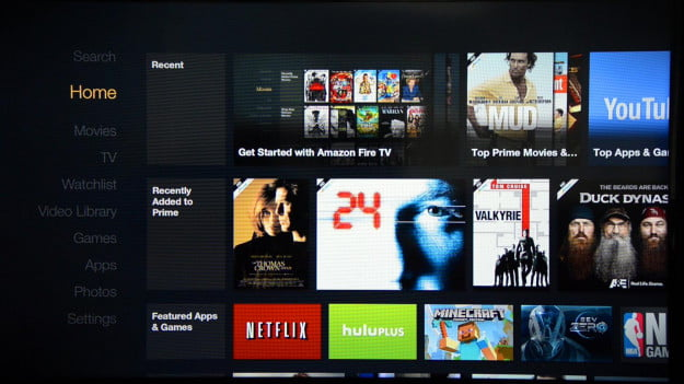 Amazon FireTV screenshot home