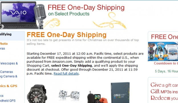 amazon-free-one-day-shipping-holiday-2011