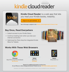 Amazon Kindle Cloud Reader