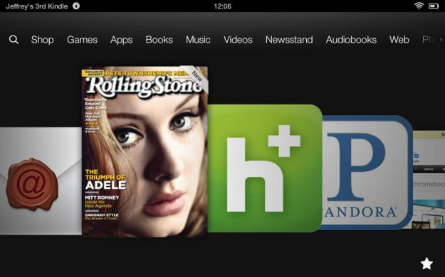 Amazon Kindle HD review screenshot apps android tablet