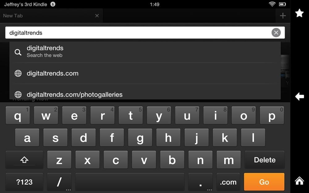 Amazon Kindle HD review screenshot search android tablet