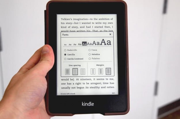 Amazon Kindle Paperwhite review font size ereader