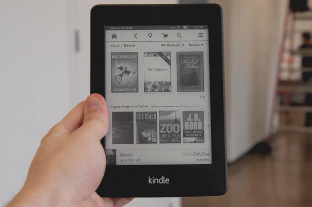 Amazon Kindle Paperwhite review front home screen ereader