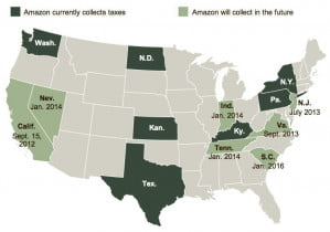 Amazon Map Sales Tax Future